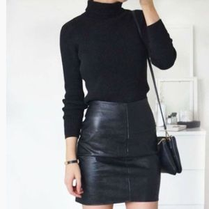 Old Navy Genuine Leather Mini Skirt